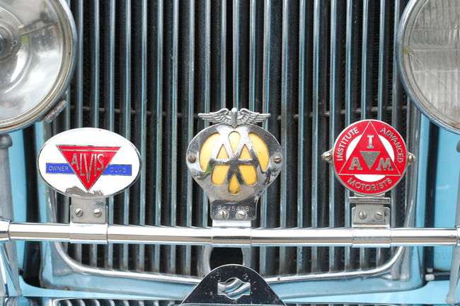 Alvis car badges