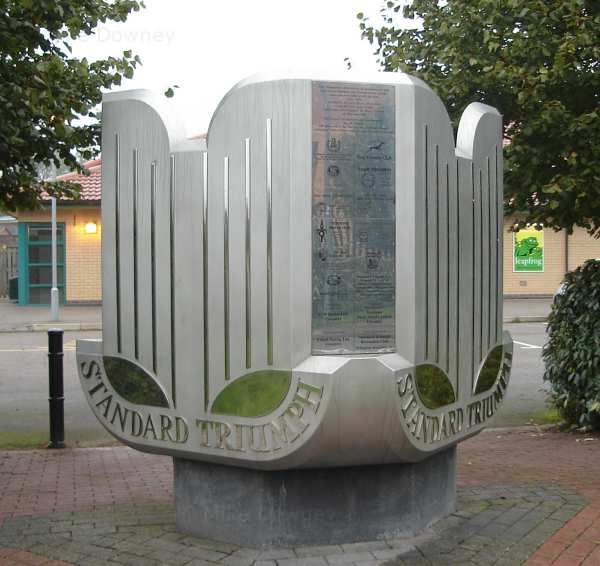 Plinth at site of old car factory in Canley