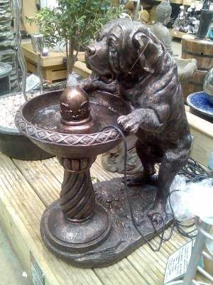 Awful garden fountain