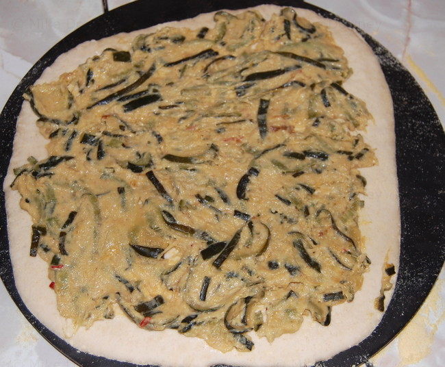 Courgette and Chicken Pizza
