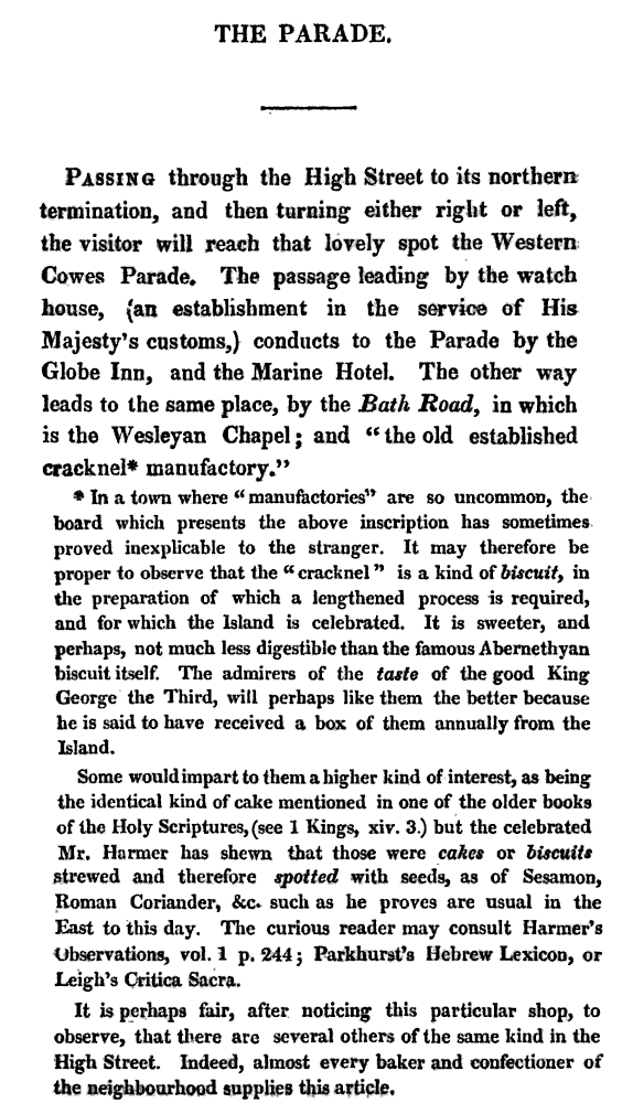 extract from The Isle of Wight Tourist, and Companion at Cowes