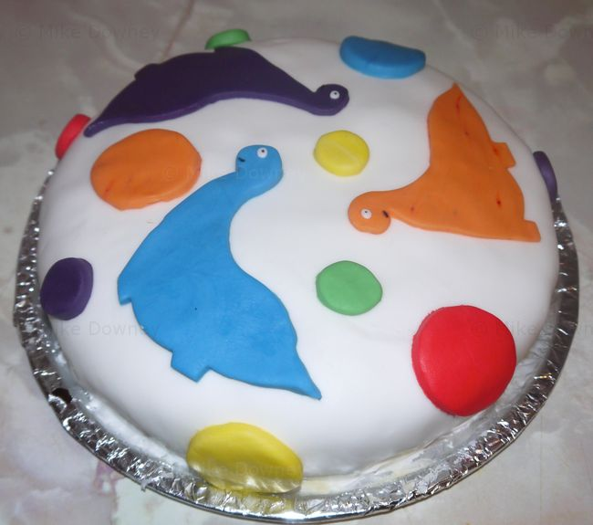 Spotty Dinosaur Cake