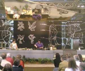 one of the cookery demonstrations in the main hall