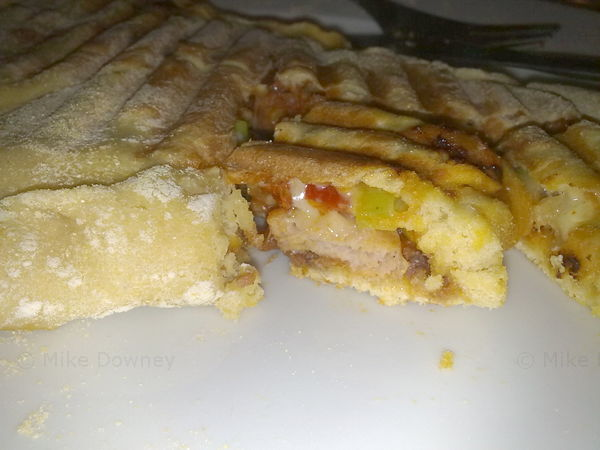 The calzone after cooking