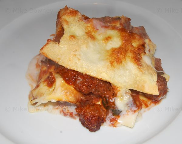 Meatball and Quail Egg Lasagne
