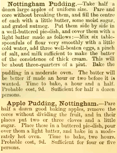 Nottingham Apple Pudding