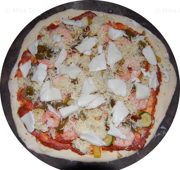 Prawn Curry Pizza