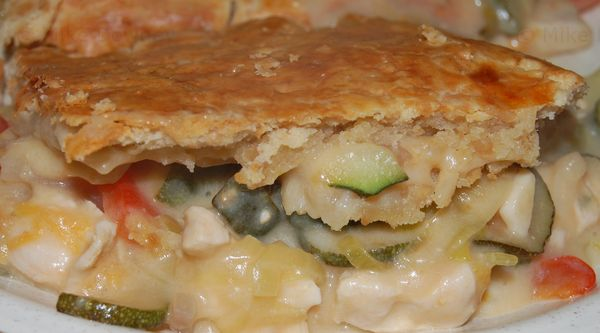 Chicken and ratatouille pie