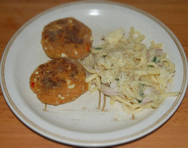 Crabcakes with spatzle