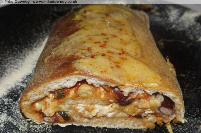 The cooked Stromboli Pizza