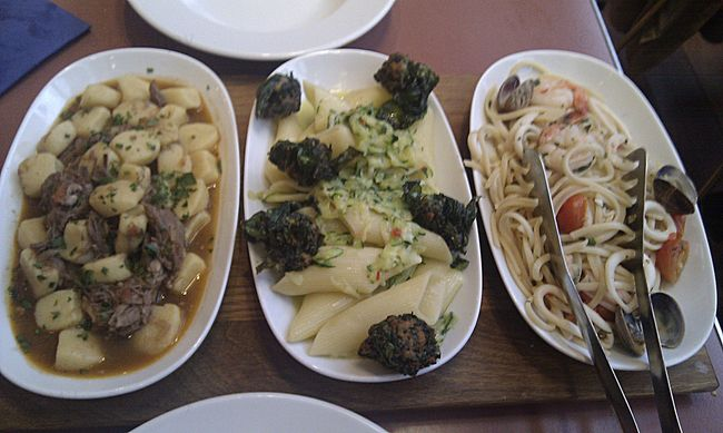 Tasting Trio pasta selection