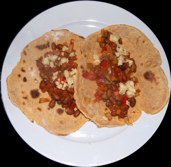 Tortilla and beans