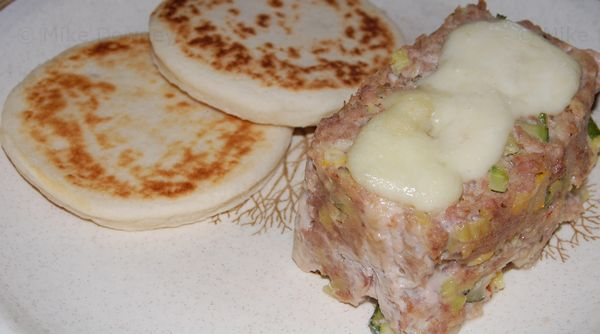 Turkey and Vegetable Meatloaf with potato cakes