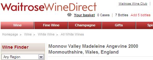 English Welsh Wine