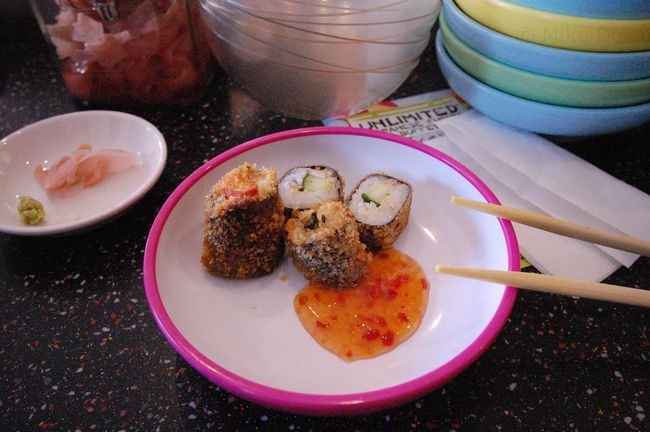 Deep fried sushi