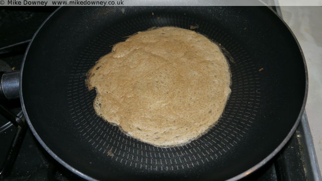 Djibouti Flatbreads in the pan